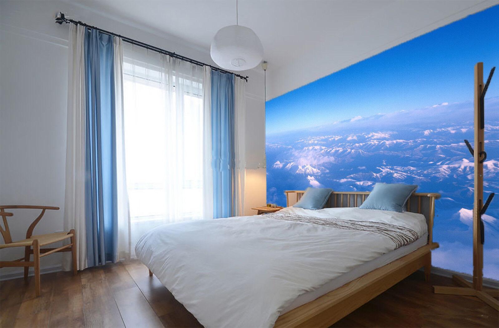 Papel Pintado Mural De Vellón Azul Cielo Nieve Fondo Montañas 2 Paisaje Fondo Nieve Pantalla 7af17d