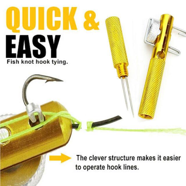 Fishing Hook Tier Knots Tie Loop Tyer Tools Kit Line Knotter Tying Fishing Tool