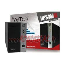 UPS GRUPPO DI CONTINUITA VULTECH 800VA LED CONTROLLO BATTERIA ALTA DURATA PC 800