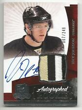 10-11 Nick Johnson The Cup Auto Rookie Card RC #135 Sweet Jersey Patch 067/249