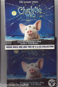 charlotte s web complete 3 disc audio book promo cds free uk post ebay