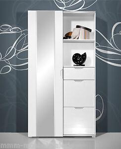 Details Zu Design Garderobe Schuhschrank Spiegel Kompaktgarderobe Weiß Hochglanz