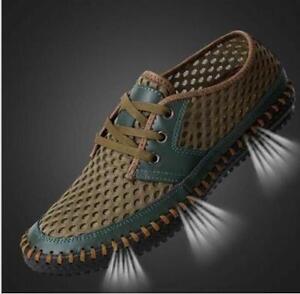 Genuine Leather Men Shoes Summer Sandals Breathable Soft Men's Handmade Loafers