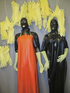 5-Paar-40-cm-Ellenbogen-lange-Latexhandschuhe-Latex-Gloves-Gummihandschuhe-M