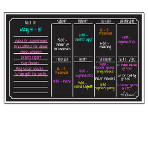 ... Décor > See more Ala Board 30012 Dry Erase Magnetic Weekly Cale