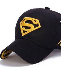 MENS / WOMENS UNISEX SUPERMAN BASEBALL CAP FLEX FIT IN BLACK