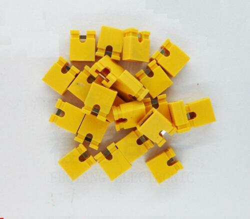 100Pcs Yellow 2.54mm Jumper Cap mini Jumper Short Circuit Cap Connection