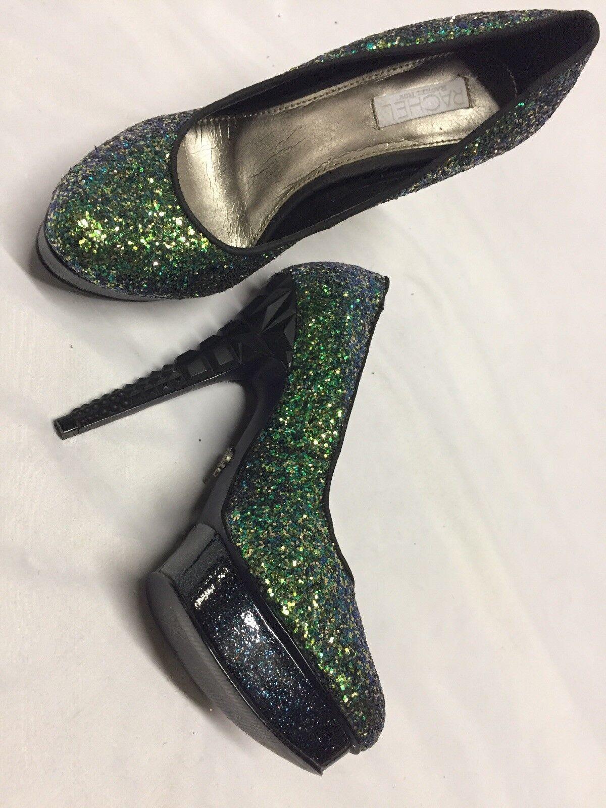 Rachel RFKEEDAN3 damen's Platform Heels Pump schuhe, Glitter MultiFarbe, MultiFarbe, MultiFarbe, Größe 6 M d55642