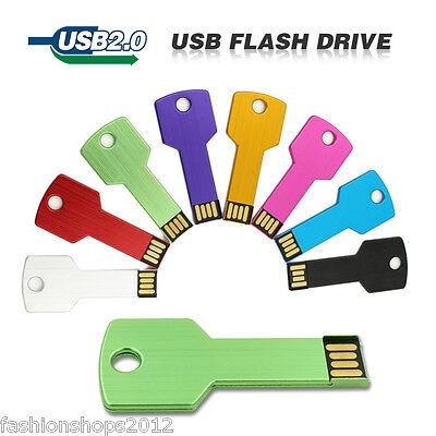 cool Metal key USB 2.0 memory stick flash pen drive 4GB 8GB 16GB 32GB DP148