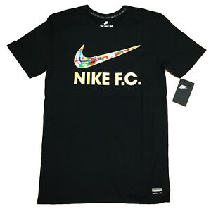 32a4f9cc92c Nike 911400-010 Mens F.C. Swoosh Flag Soccer Tee Athletic Cut T ...