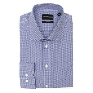 Camicia Bianco Gingham Micro Blu 16 e Fit £ Armani Emporio Modern 159 Rrp 41 q85tnE