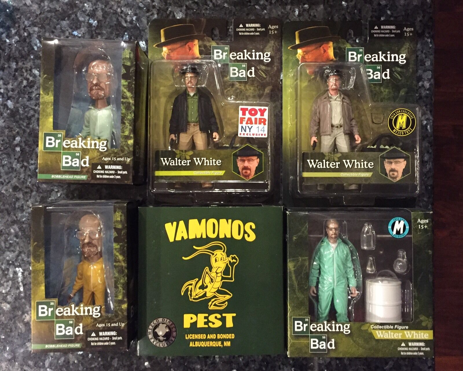 MEZCO TOYZ BREAKING BAD WALTER Weiß CON EXCLUSIVES ULTIMATE COLLECTORS SET
