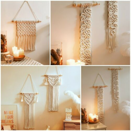 Nordic Style Woven Wall Hanging Tapestry Bohemian Tassel Macrame Home Art Decor