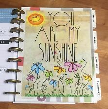You Are My Sunshine Two-Sided Dashboard for use with Happy Planner *Create 365*
