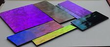 90 COE DICHROIC SHEET GLASS 8.2 OZ BLACK BACKED SCRAP Stained Glass Supplies #1