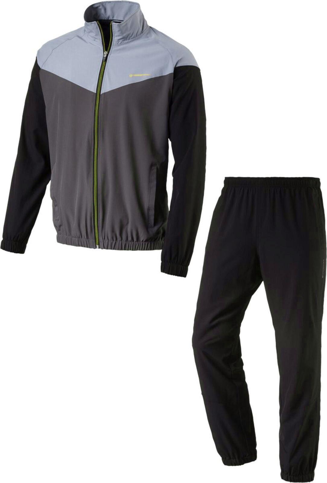 Energetics Herren Präsentationsanzug Trainingsanzug FINLEY + FLO  grau schwarz