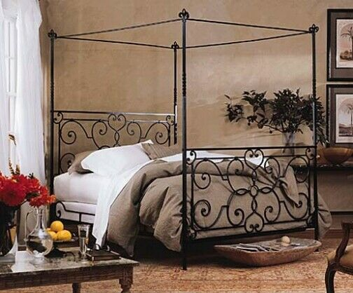 Charles P Rogers Iron Sleigh Bed Queen Size For Sale Online Ebay