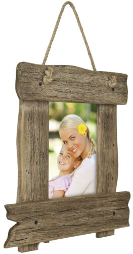 Rustic Wooden Picture Frame Shabby Chic Wall Hanging Frame fits 5x7 Photo