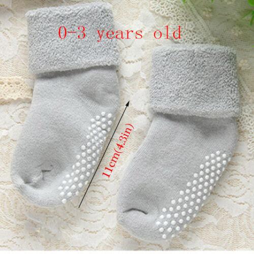 0-3Y Cotton Baby Socks Autumn Winter Thicken Warm Newborn Floor Boy Girl Socks