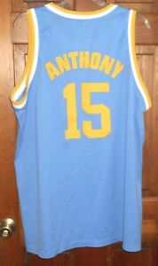 best service 7e118 95053 Details about CARMELO ANTHONY #15 Denver Nuggets Throwback Retro NBA Jersey  sz XXL+2 Stitched