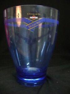 Cubo-Hielo-Martini-Plexiglas-Sello-Azul-Vintage-Modernismo