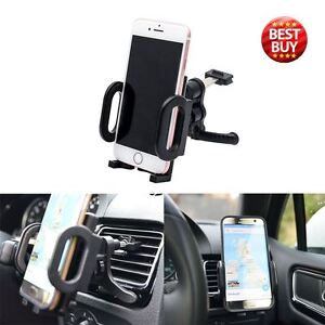 In-Car-Phone-GPS-Holder-Air-Vent-Clip-Cradle-Mount-For-iPhone-Samsung-Universal