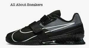 """Nike romaleos 4 """"NERO/NERO/BIANCO"""" Uomo Scarpe da ginnastica LIMITED STOCK Tutte le Taglie"""