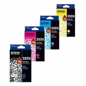 Genuine-Epson-252-252XL-High-Yield-Black-Cyan-Magenta-Yellow-Value-Pack