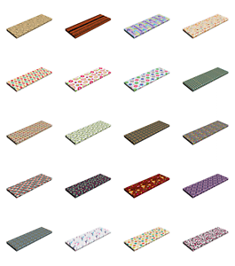 Ambesonne-Retro-Scene-Bench-Pad-HR-Foam-with-Fabric-Cover-45-034-x-15-034-x-2-034