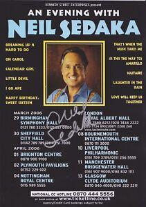 Neil Sedaka Calendar Girl.Details About Neil Sedaka Hand Signed Flyer Autograph Oh Carol Solitaire Calendar Girl