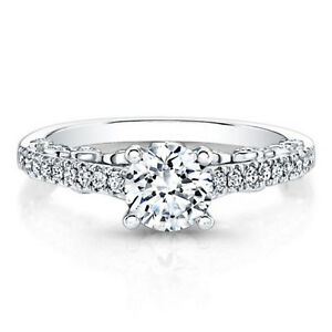 0-64-Ct-Round-Cut-Real-Diamond-Ring-14K-Solid-White-Gold-Womens-Size-7-6-5-4-5