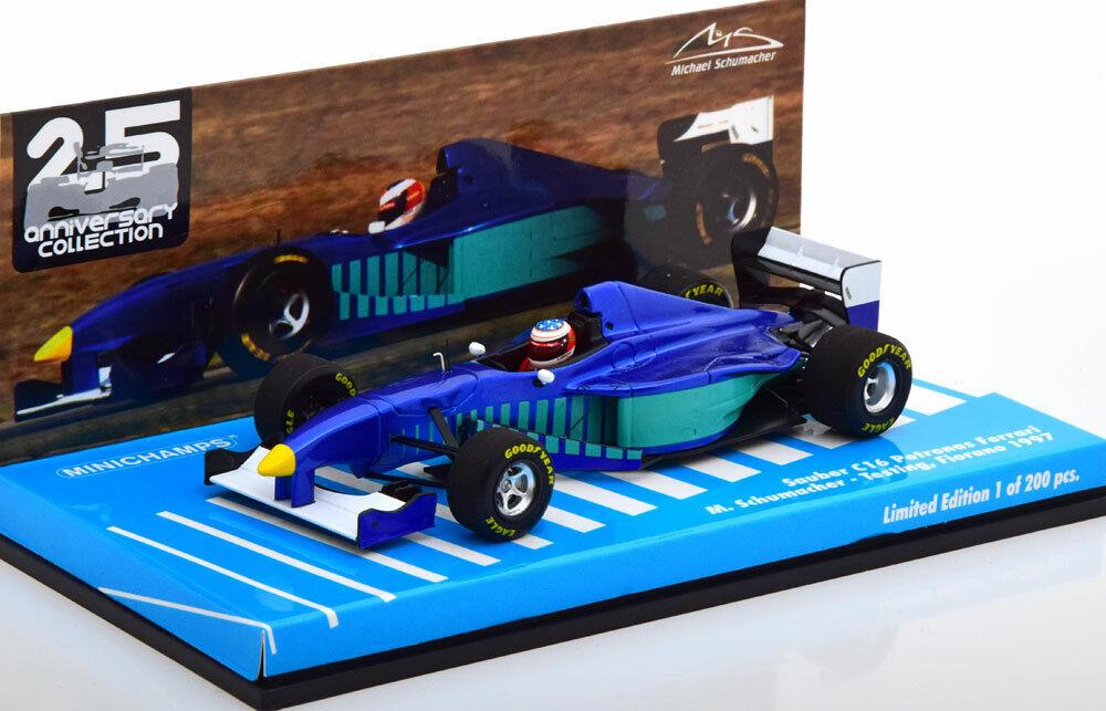 a buon mercato 1 43 Minichamps Sauber c16 PETRONAS Test Fiorano Schumacher Schumacher Schumacher 1997  design unico