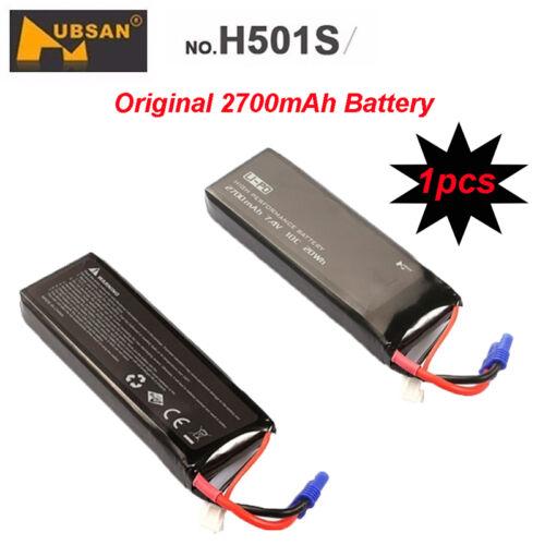 Original 1PCS Lipo Power Battery 7.4V 2700mAh Spare Parts For Hubsan H501S Drone