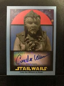 Star Wars Topps Sugar Free 2017 Blue Corey Dee Williams Autograph Card #8/25