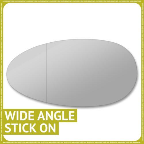 Lado izquierdo para Rover 25 45 Streetwise 99-05 Ala Espejo De Cristal Gran Angular