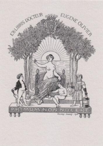D Rare ! fine signed etching ex libris G JüRGENS Harry Jupiter 2 Mirabella