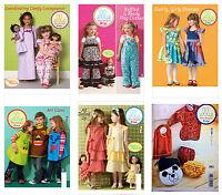 Kwik Sew Sewing Pattern Ellie Mae Children's Dresses 18 Doll Clothes Pjs Smocks