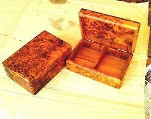 woden boxes thuya Wooden thuya Jewelry Keepsake Jewelry storage,box is handmade