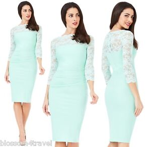 Goddess-Mint-Scalloped-Lace-Fitted-Marcella-Cocktail-Evening-Party-Dress