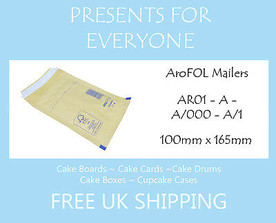 500 x AroFOL Gold Brown AR04 JL1 Bubble Lined Padded Mailing Envelopes Bags