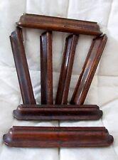 lot de 7 anciennes poignées en bois pour bureau-meuble métier-chêne-art déco