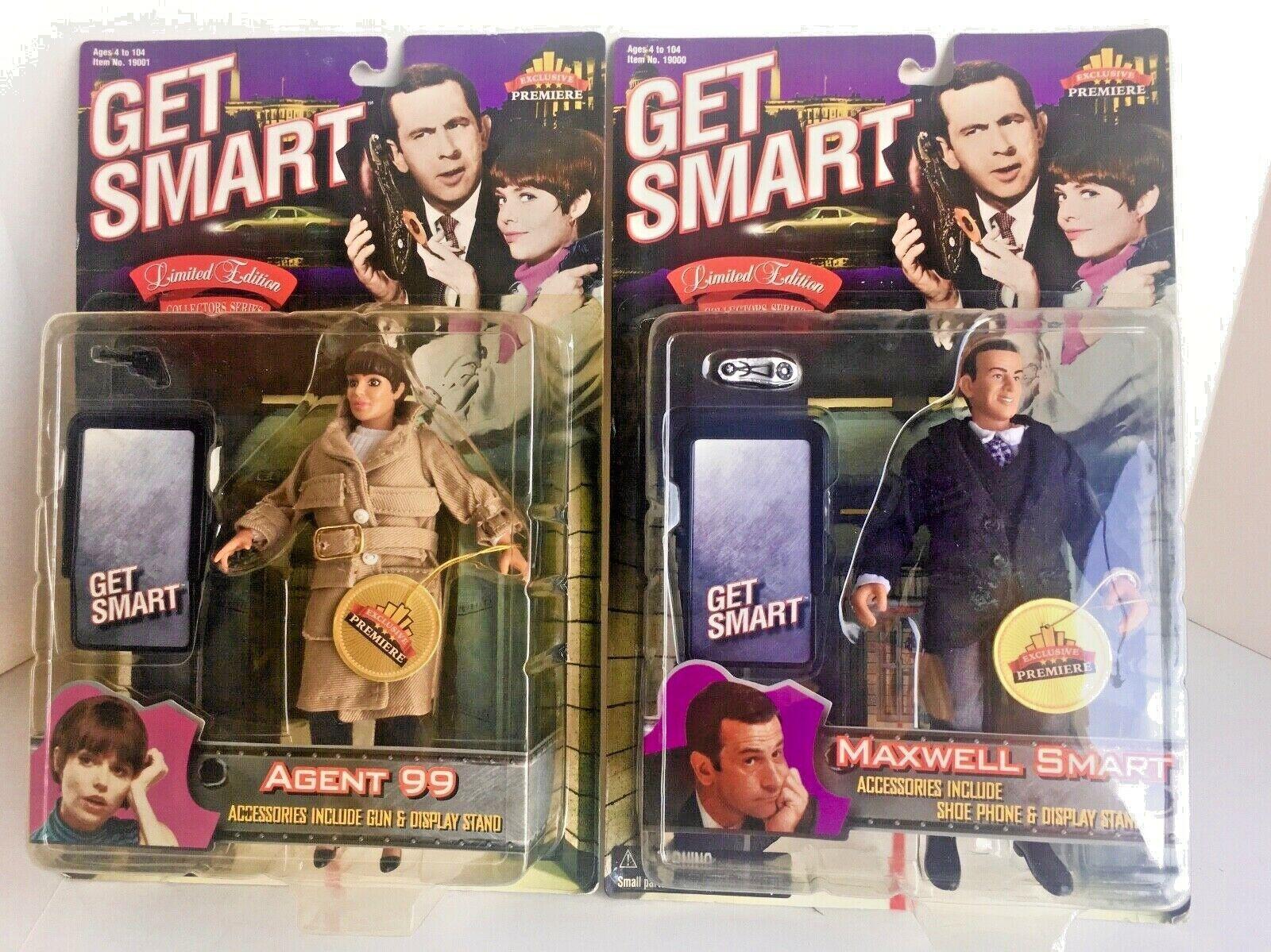 GET SMART TV Series MAXWELL SMART & AGENT 99 Exclusive Premier Figures AF-6