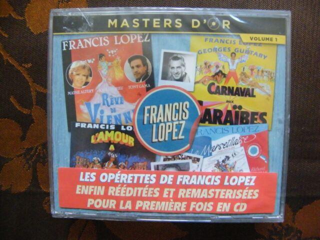 CD MASTERS D'OR VOL.1 - LES OPERETTES DE FRANCIS LOPEZ / Sun Records (2017) NEUF