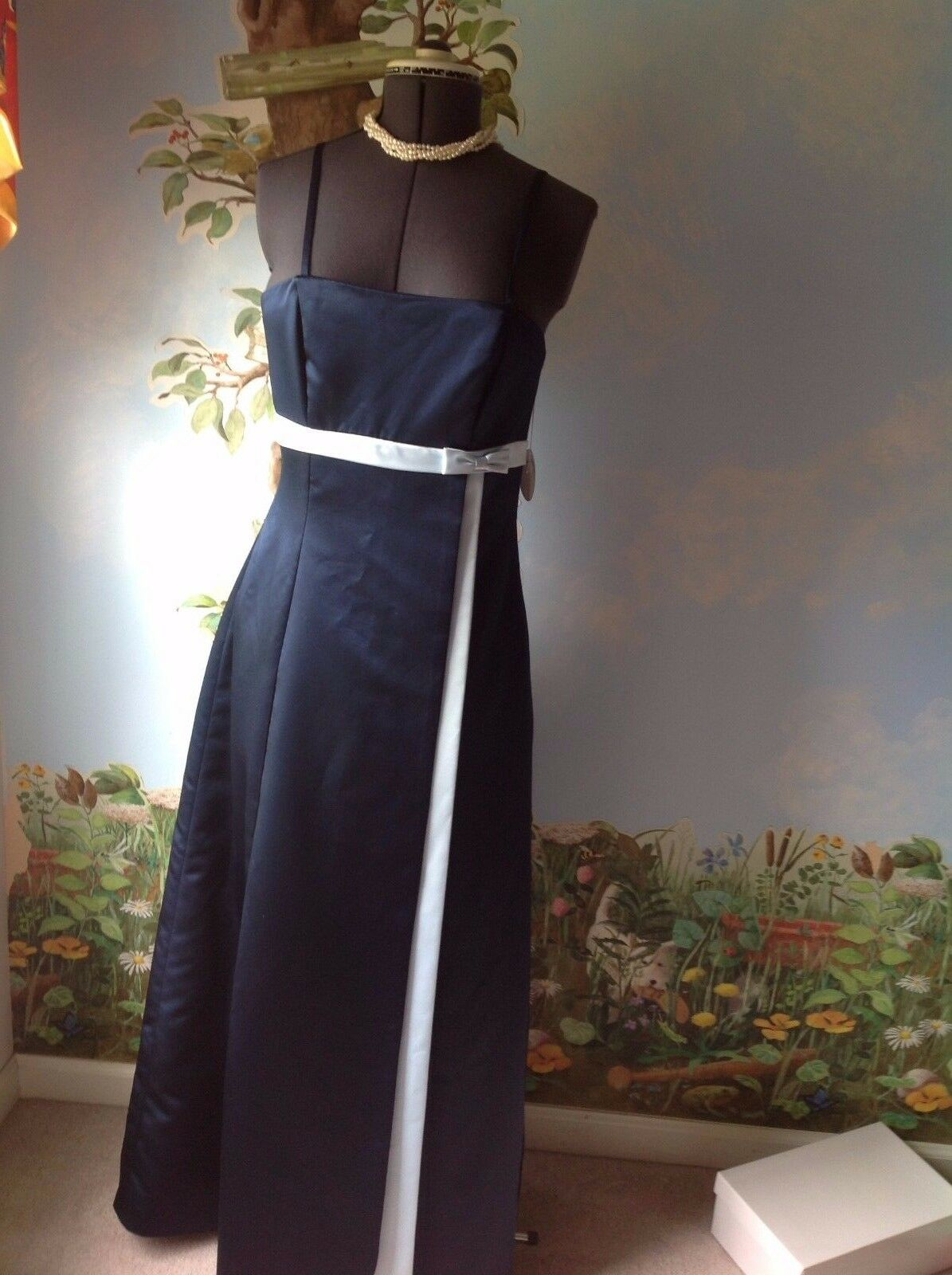Da Vinci bluee Prom Dress Formal Homecoming Maxi Long bluee Dress Size 14