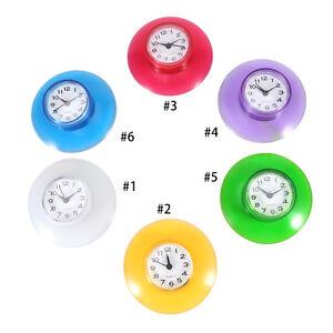 Mini-Horloge-Etanche-avec-Ventouse-Salle-de-Bain-Douche-Toilettes-Murale