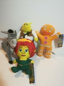 New-DreamWorks-SHREK-Licensed-Plush-Lot-of-4-Stuffed-Toys