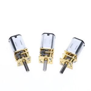DC 3V 6V 12V 15RPM-1000RPM DC Geared Motor Mini Electric Motors 3mm Shaft