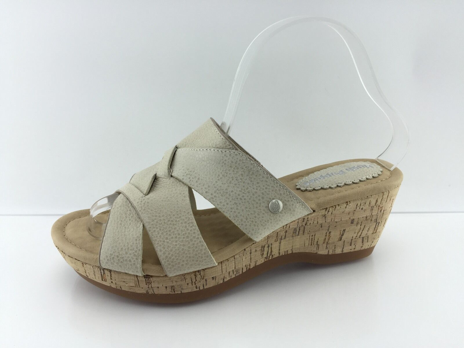 Hush Puppies Women's Ivory Leather Sandals 8.5 W