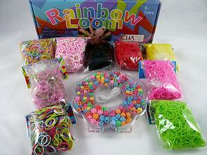 Twistz-Bandz-Original-Rainbow-Loom-Gummibaender-versch-Farben-Lagerraeumung