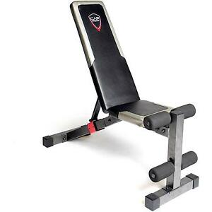 Weight Bench Heavy Duty Adjustable 6 Back Positions Home Gym Workstation Workout